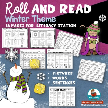 Roll and Read | Fluency Practice | Pictures-Words and Sentences| Reading