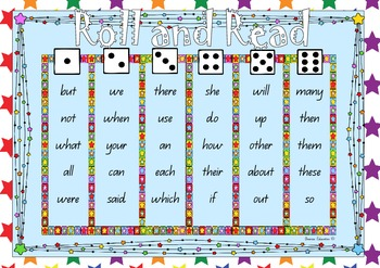Roll and Read Fry List Words - 120 WORDS