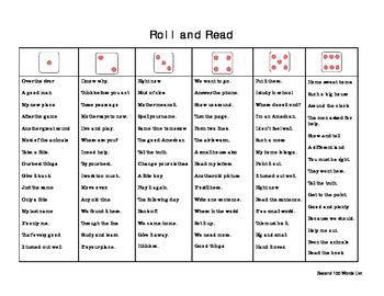 Roll and Read Fry Phrases 100-600