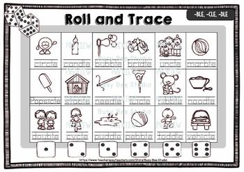 Roll and Read Games   Words Ending in LE