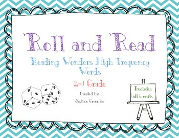 Roll and Read High Frequency Words 2nd grade Reading Wonders ALL 6 UNITS