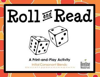 Roll and Read - Initial Consonant Blends *21 Print-and-Play Sets*