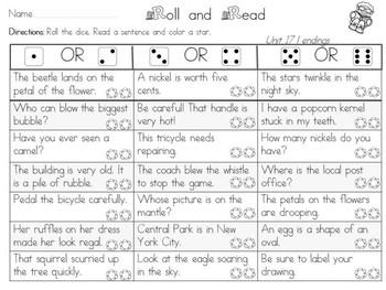 "Roll and Read ""L"" Endings (al, el, le) Mulitsyllabic Interventions"