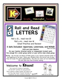 Roll and Read - LETTERS!  A funsical way to practice and review letters!