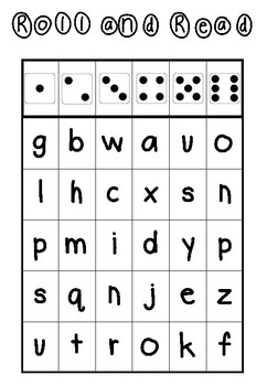 Roll and Read Letter Game