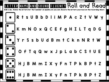 Roll and Read Letter Names and Sounds