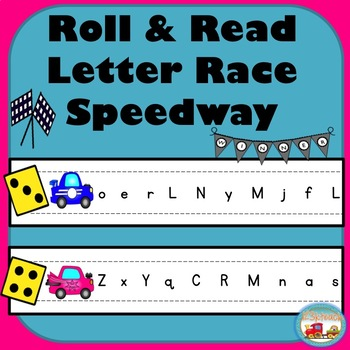 Roll and Read Letter Race Speedway