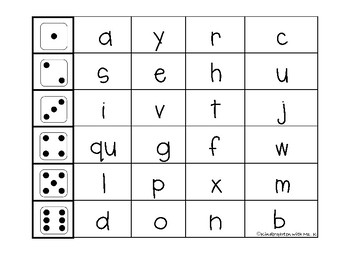 Roll and Read: Uppercase and Lowercase Letter or Initial Sound Recognition