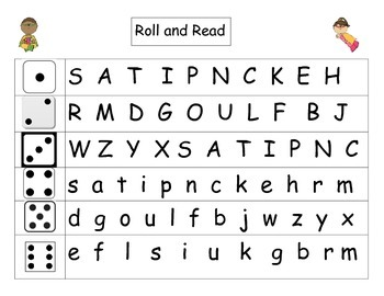 Roll and Read! Letters and Sight Words