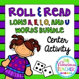 Long Vowels Roll and Read Games: Long A, E, I, O, and U Center Activity