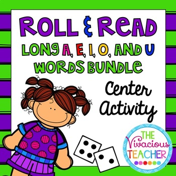 Long Vowels Roll and Read Games: Long A, E, I, O, and U Wo