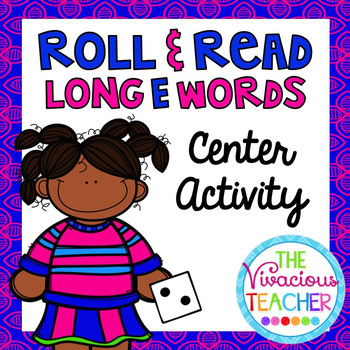 Long E Words and Nonsense Words Roll and Read Games