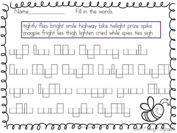 Roll and Read Long I Digraphs (Multisyllabic)  Interventions