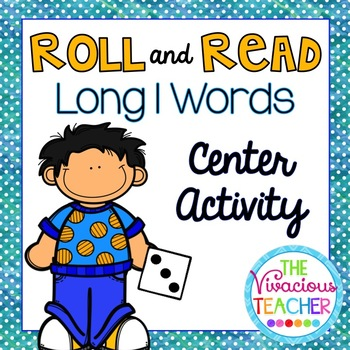 Long I Words and Nonsense Words Roll and Read Games