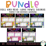 Roll and Read Long Vowel Sounds Bundle - oo, ay, igh, ee,