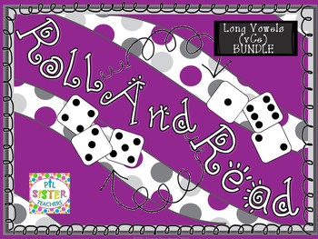Roll and Read Long Vowel (vCe)  BUNDLE for FLUENCY INTERVENTION