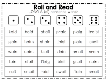 Roll and Read [Long Vowels]