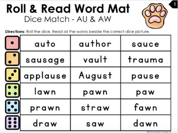 Roll and Read Long and Short VOWELS