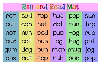 Roll and Read Mat (Middle /o/ and /u/ CVC)