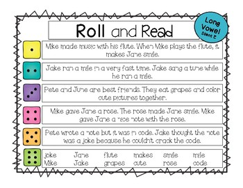 Roll and Read Mixed Vowels