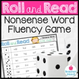 Roll and Read {Nonsense Word} Fluency Practice {Phonics Game} Center