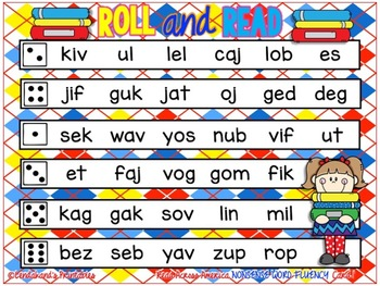 Roll and Read Nonsense Word Fluency READ ACROSS AMERICA by Ms. Lendahand