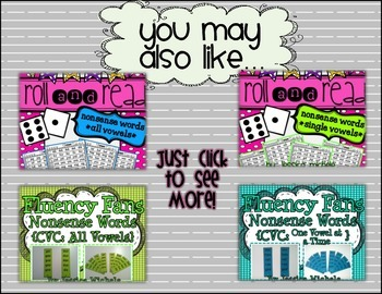 Roll and Read {Nonsense Words *All Vowels*} FREEBIE