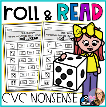 Roll and Read- CVC Nonsense Words