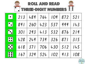 Roll and Read Numbers (up to Four-Digit)
