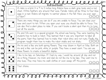 Roll and Read Open/Closed Syllables Interventions