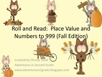 Roll and Read:  Place Value (Fall Edition)