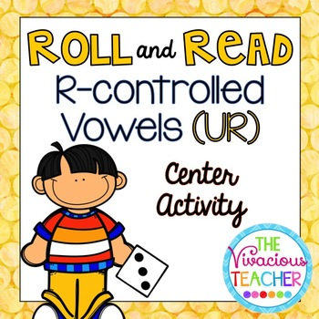 R-Controlled Vowels ('UR' Words and Nonsense Words) Roll and Read Games