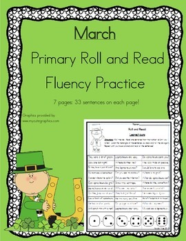 Roll and Read Reading Fluency: March