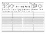 Roll and Read Recording Sheet