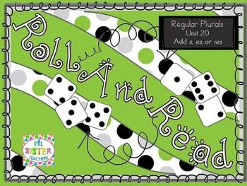 Roll and Read Regular Plurals (s, es, ies)  Mulitsyllabic Interventions