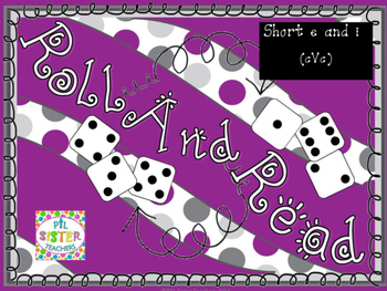 Roll and Read Short Vowel E and I (cVc) Mixed Review for FLUENCY Interventions
