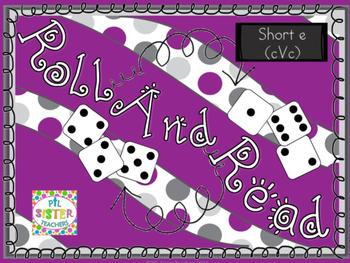 Roll and Read Short Vowel E (cVc) for FLUENCY