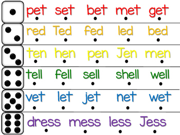 Roll and Read Short Vowel Fluency