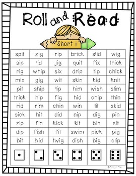 Roll and Read Short Vowels