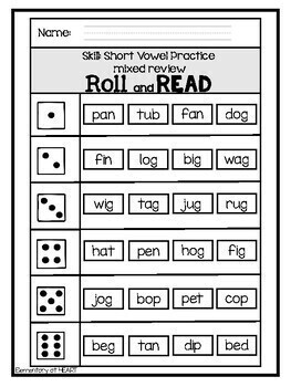 Roll and Read- Short Vowels, Long Vowels, Word Families, and MORE!