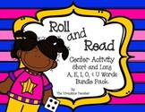 Short Vowels and Long Vowels Roll and Read Center Activity