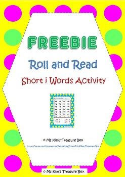 Roll and Read - Short i Words Activity