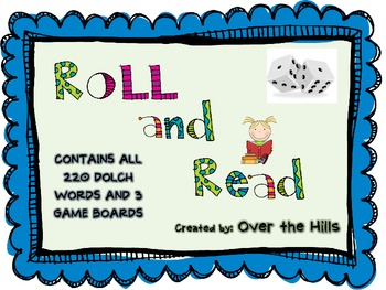 Roll and Read Sight Word Game {All DOLCH words}