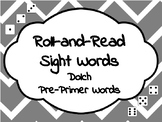 Roll-and-Read Sight Words Dolch Pre-Primer