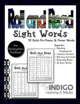 Roll and Read - Sight Words (Dolch Pre-Primer and Primer)