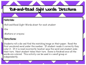 Roll-and-Read Sight Words Fry-Third Hundred Words