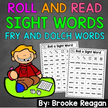 Roll and Read Sight Words: Fry and Dolch Words