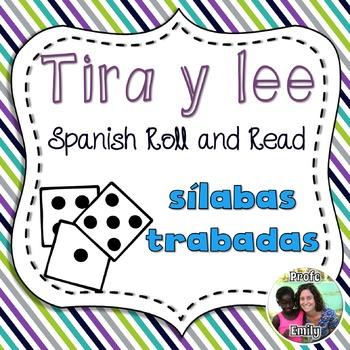 Roll and Read Spanish blends - Sílabas trabadas
