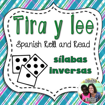 Roll and Read Spanish inverse syllabes - Sílabas inversas