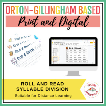 Roll and Read Syllable Division (Orton-Gillingham)